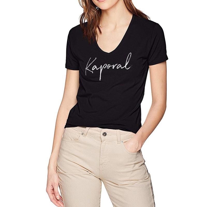 Tee-shirt Femme noir Kaporal Pas cher | Espace
