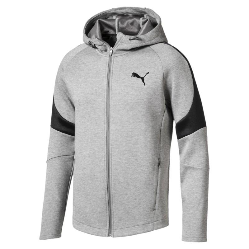 Sweat zippé gris homme Puma pas cher | Espace