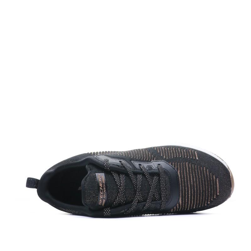correspondant en couleur magasiner pour l'original chaussures élégantes Baskets noir femme Skechers pas cher   Espace des Marques