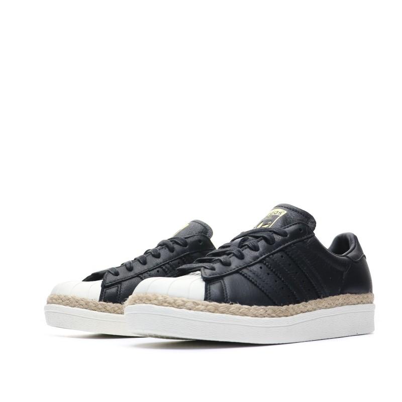 Adidas Superstar 80s New Bold Noir Femme Pas cher| Espace des Marques