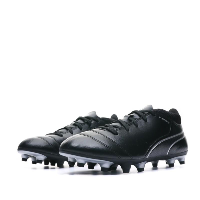 Chaussures de foot noires junior Puma One pas cher | Espace des Marques
