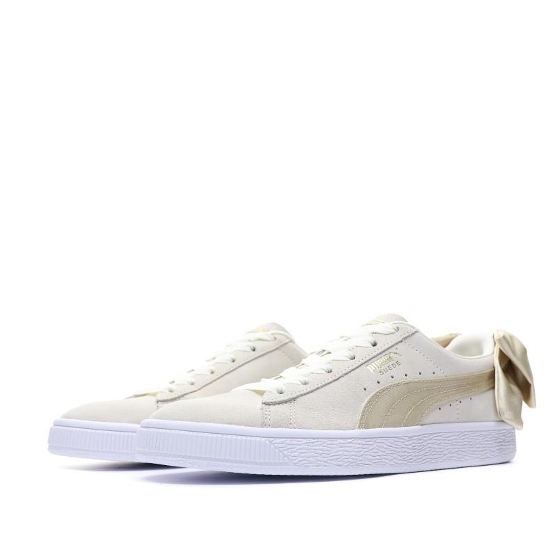 chaussures de séparation bb314 635c9 Suede Bow Varsity Femme Puma Pas cher   Espace des Marques
