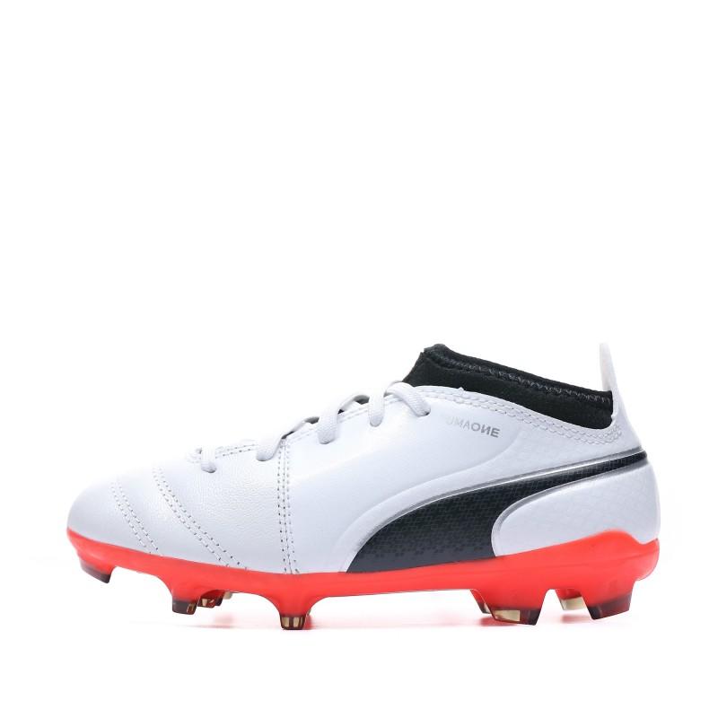 Puma one 17.3 FG Chaussures de foot blanc garçon Puma
