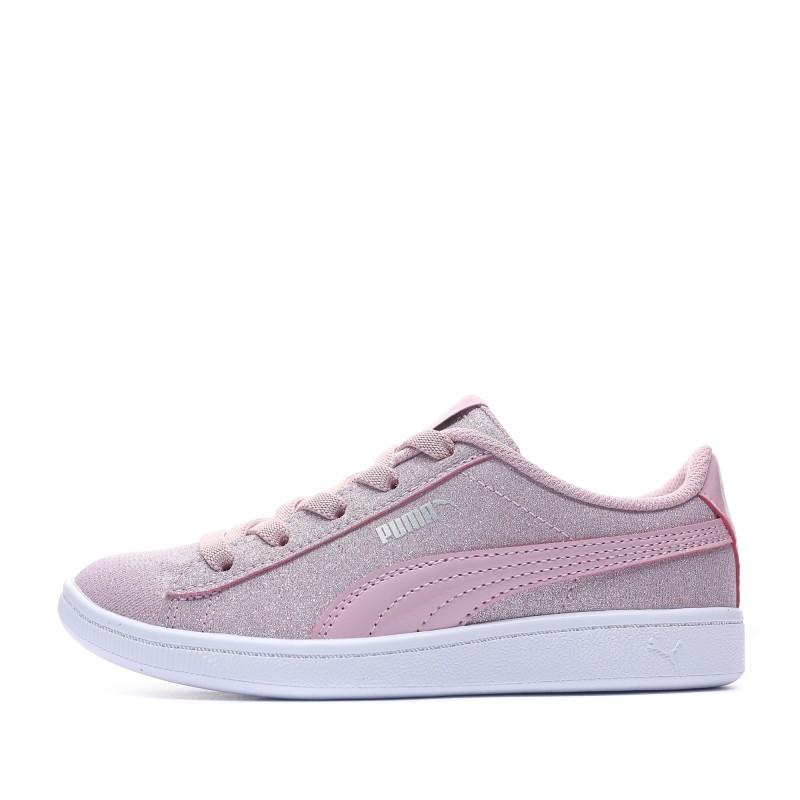 baskets puma fille rose