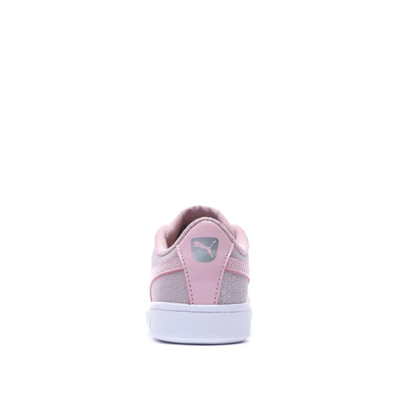 Puma Vikky Glitz Baskets rose fille pas cher | Espace des Marques
