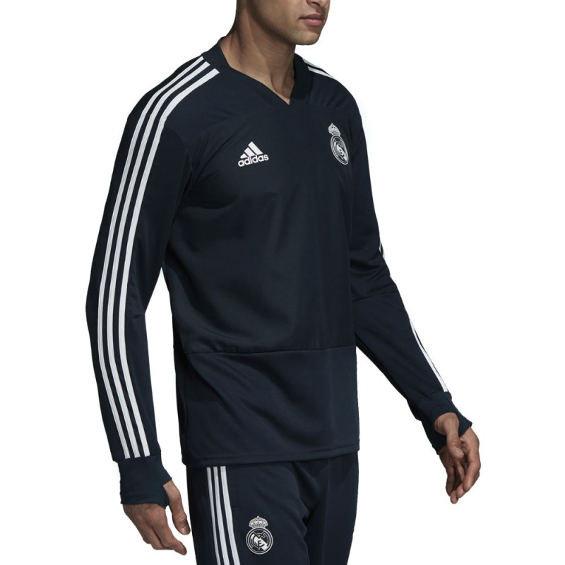 Real Madrid Sweat entrainement gris homme pas cher   Espace des Marques