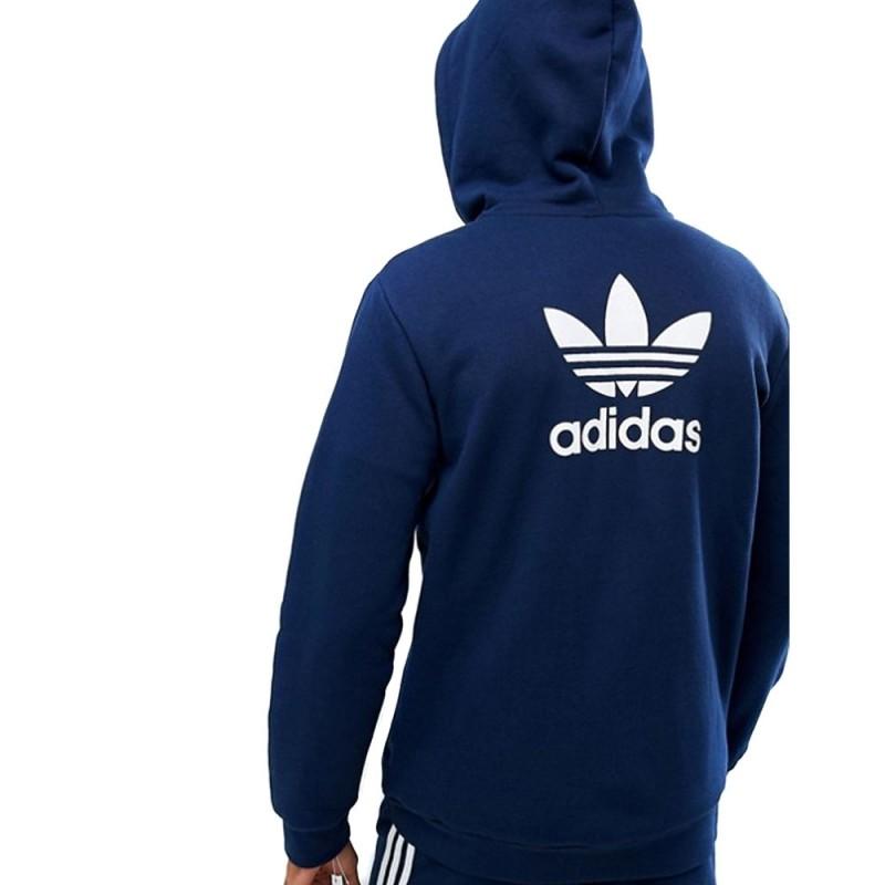Sweat zippé bleu marine homme Adidas pas cher | Espace des Marques