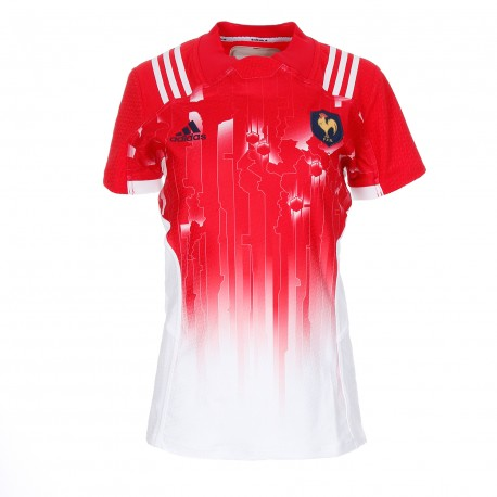 Equipe France Rugby 7 Maillot extérieur rouge femme Adidas