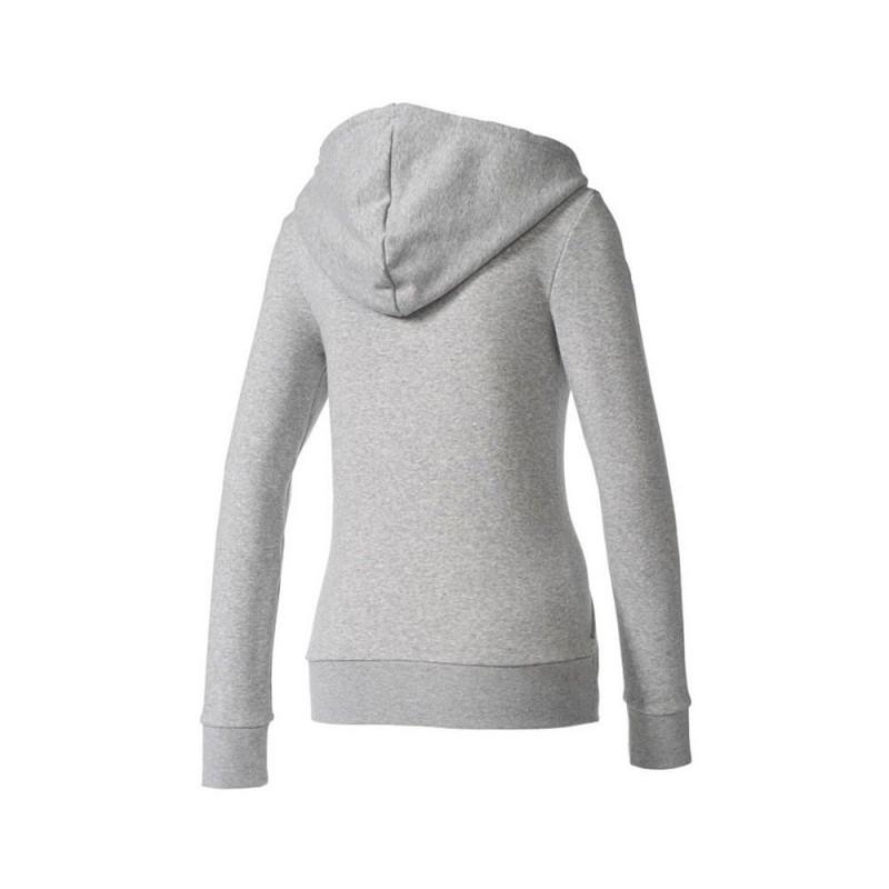 Sweat zippé gris femme Adidas pas cher | Espace des Marques