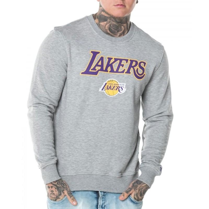 Lakers Sweat gris homme NEW ERA pas cher | Espace des Marques