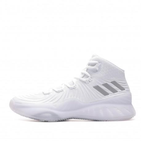 Crazy Explosive Chaussure basket ball blanche homme Adidas