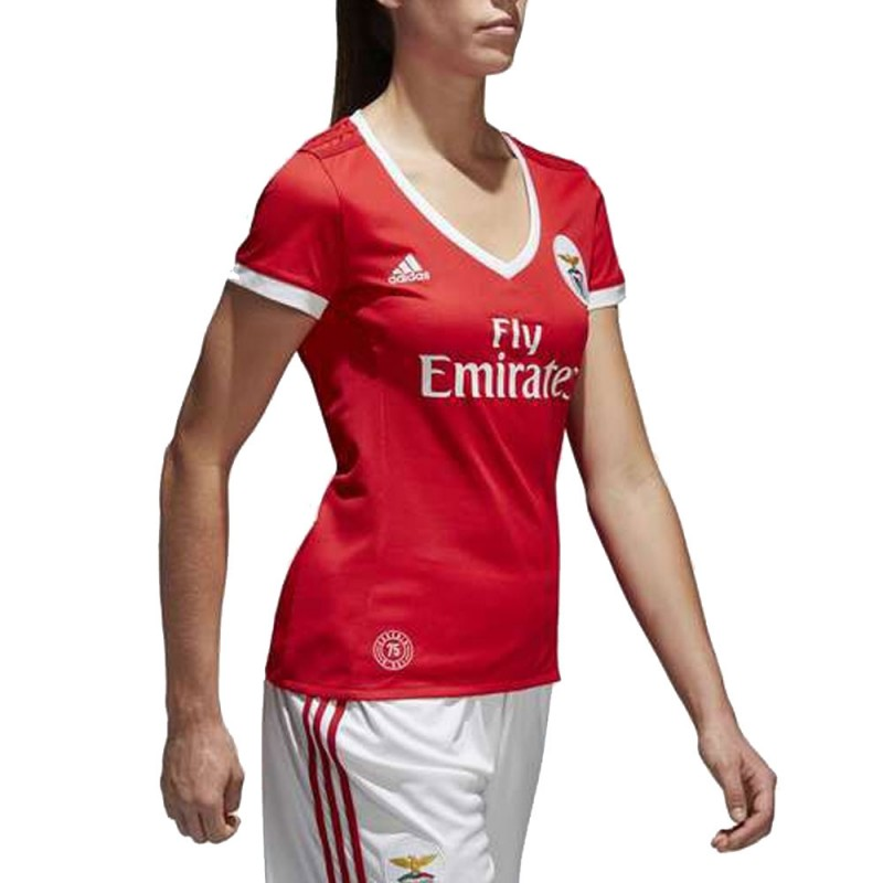 S.L. Benfica Maillot rouge femme Adidas pas cher