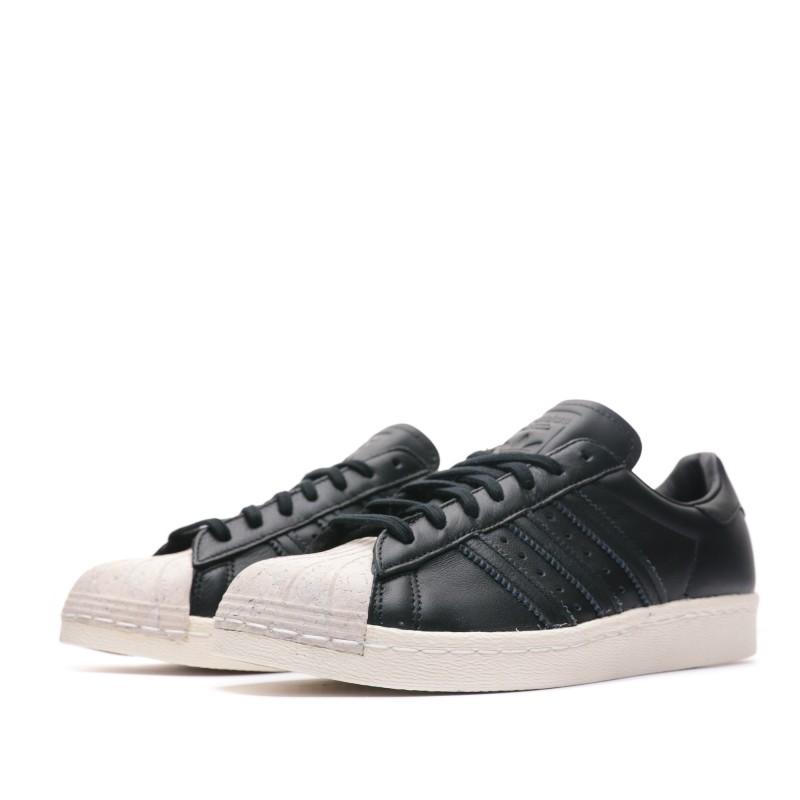 Superstar 80s Baskets noires femme Adidas pas cher