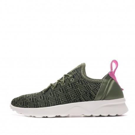 Baskets vert femme Adidas ZX Flux ADV