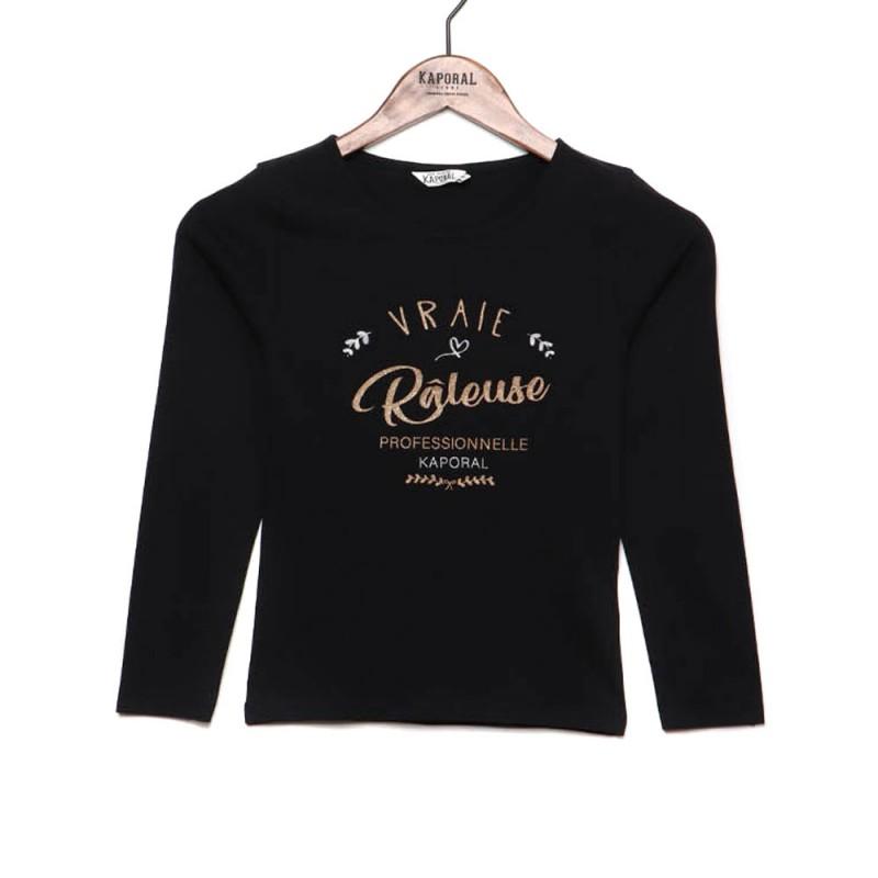 Achat T shirt noir fille Kaporal pas cher | Espace des Marques