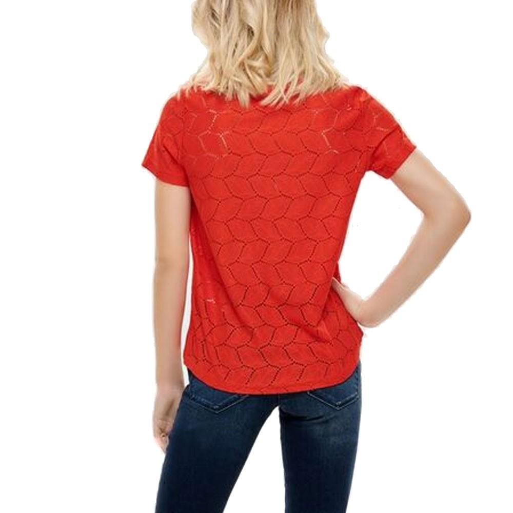 Top-rouge-Femme-Jacqueline-de-Yong-Tag-Lace-Rouge miniature 3