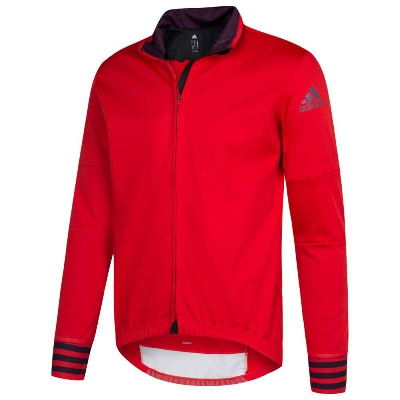 Achat Maillot cyclisme manche longue rouge Adidas | Espace des Marques