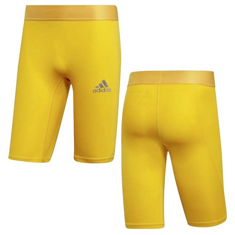 Collant court jaune homme Adidas pas cher | Espace des Marques