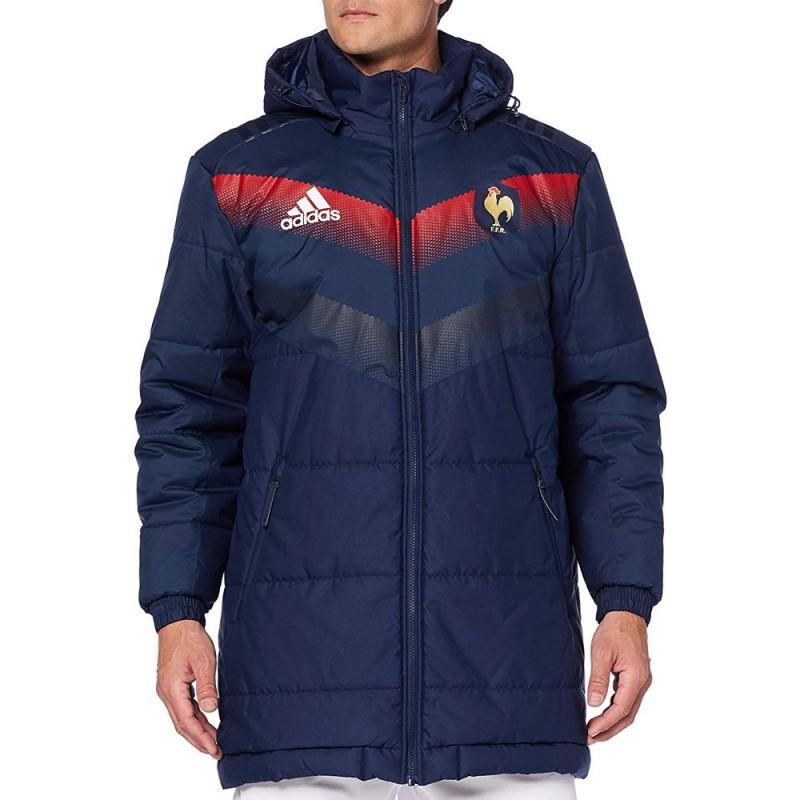 Achat Parka Equipe de France Rugby Adidas pas cher | Espace des Marques