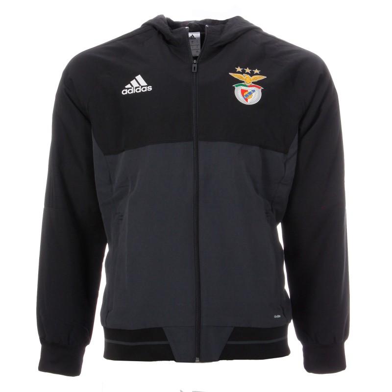 S.L. Benfica Veste noir homme Adidas pas cher | Espace des Marques