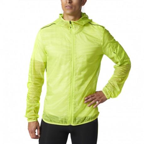 Veste running jaune fluo homme Adidas pas cher | Espace des Marques