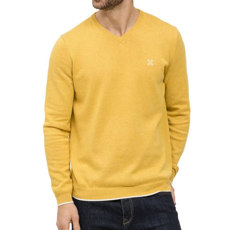 Achat pull jaune homme Oxbow pas cher | Espace des Marques