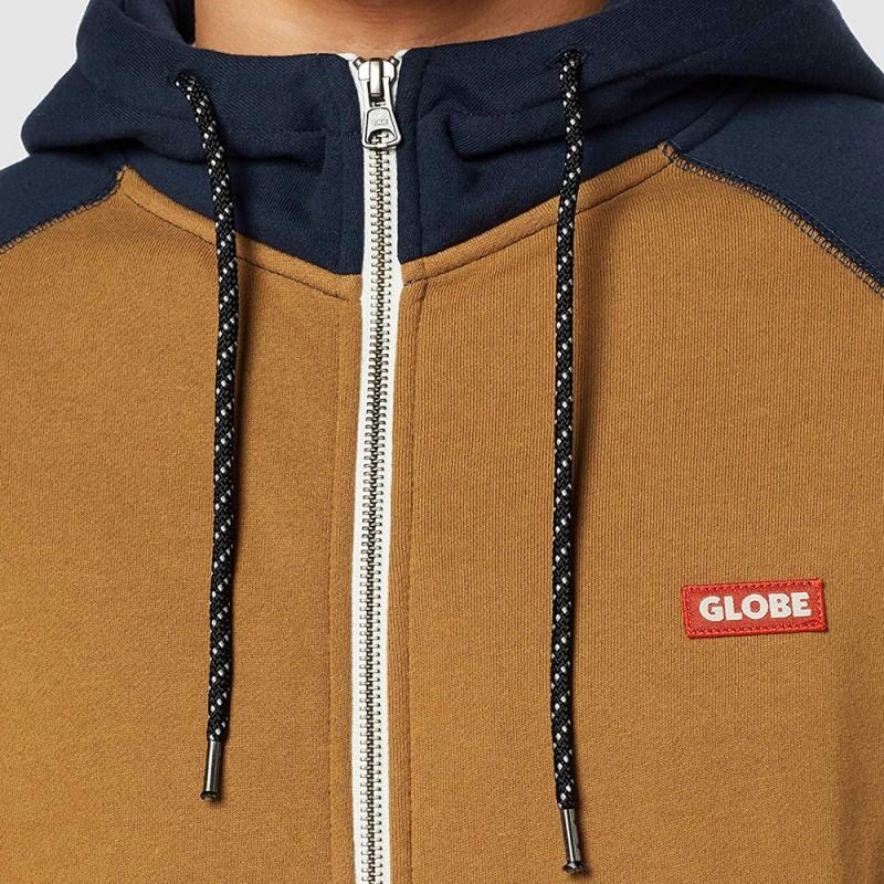 Achat Sweat zippé bleu gris homme Globe pas cher | Espace des Marqus