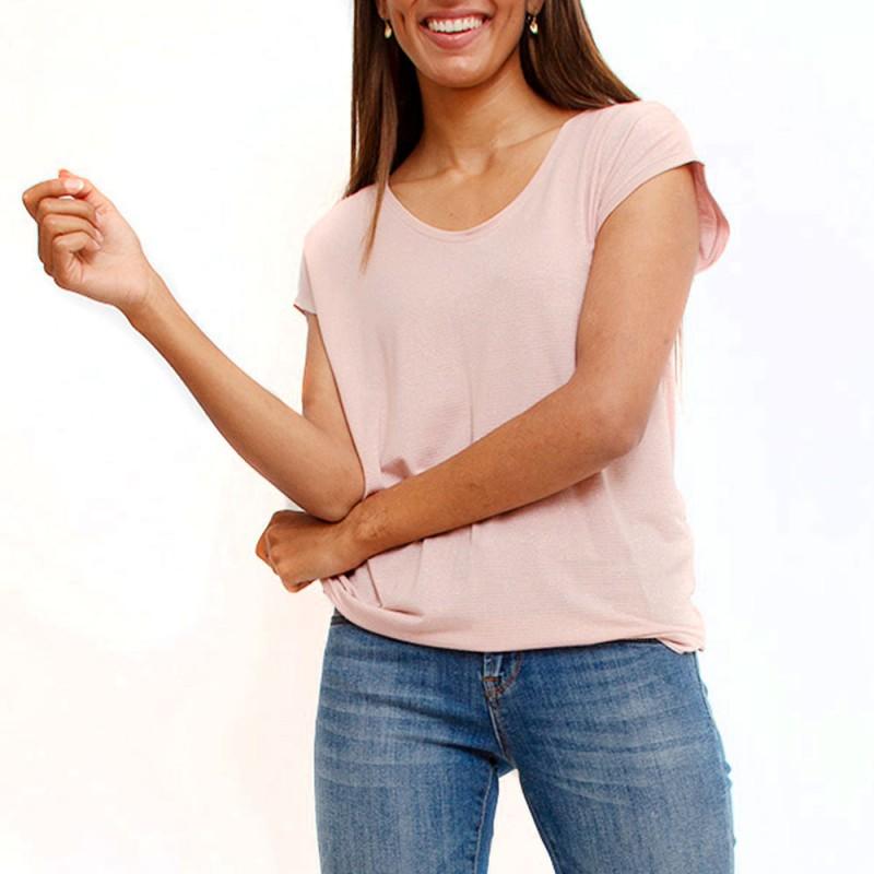 T-shirt rose femme Pieces Billo pas cher