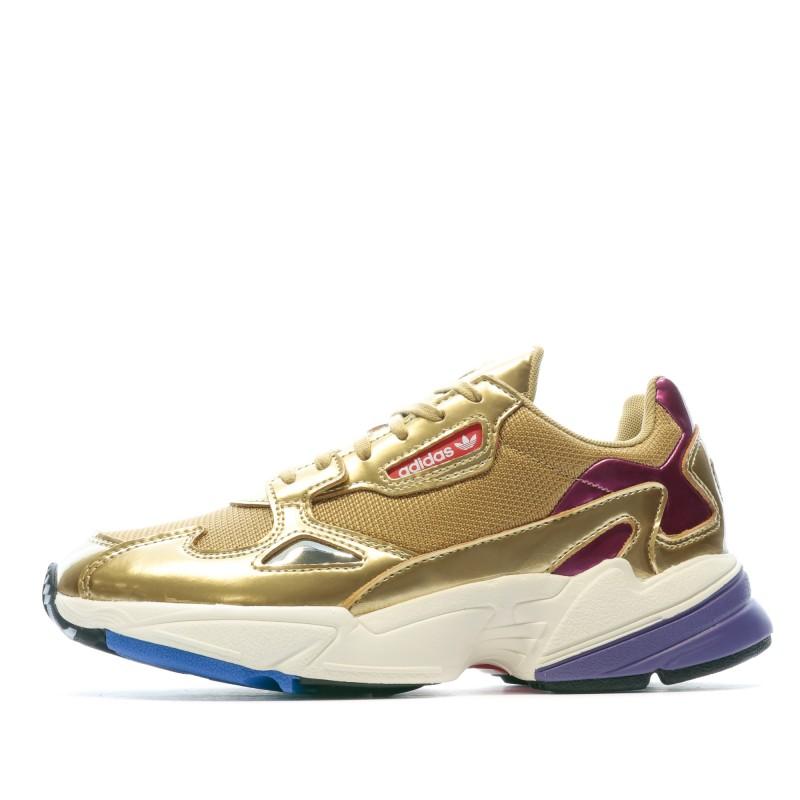 Adidas Falcon Baskets doré femme pas cher | Espace des Marques.com