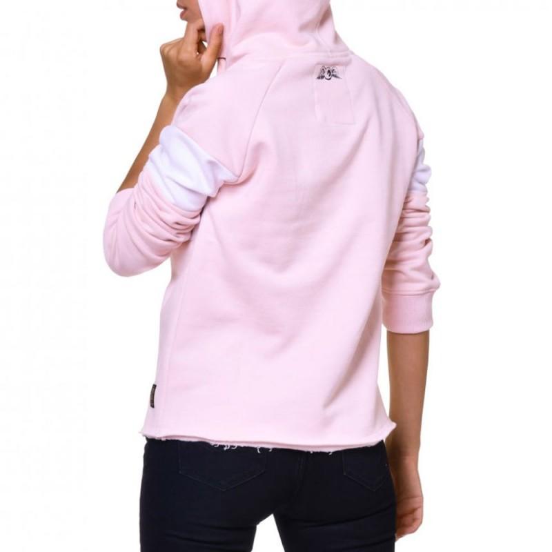 sweat à capuche rose femme