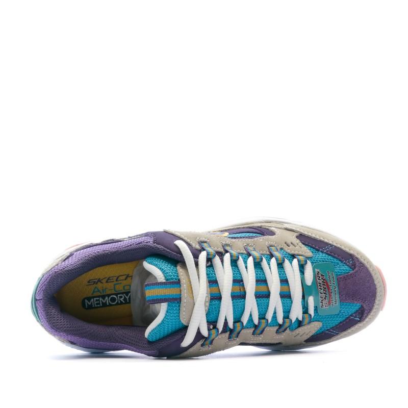Sneakers violetgris femme Skechers Stamina SKECHERS pas