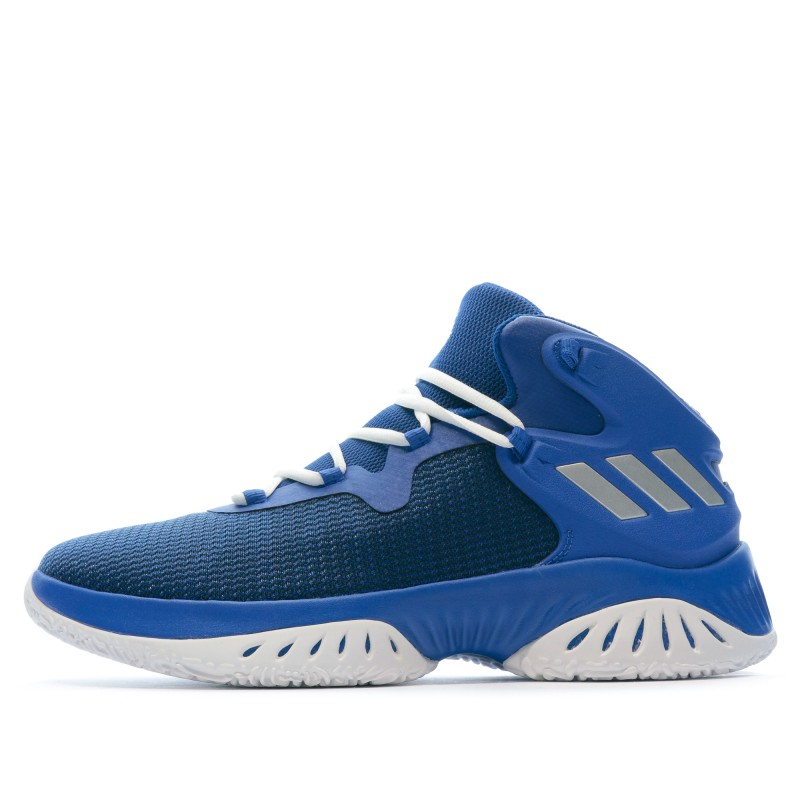 Chaussures de baskets bleues mixte Adidas Explosive Bounce pas cher | Espace des Marques