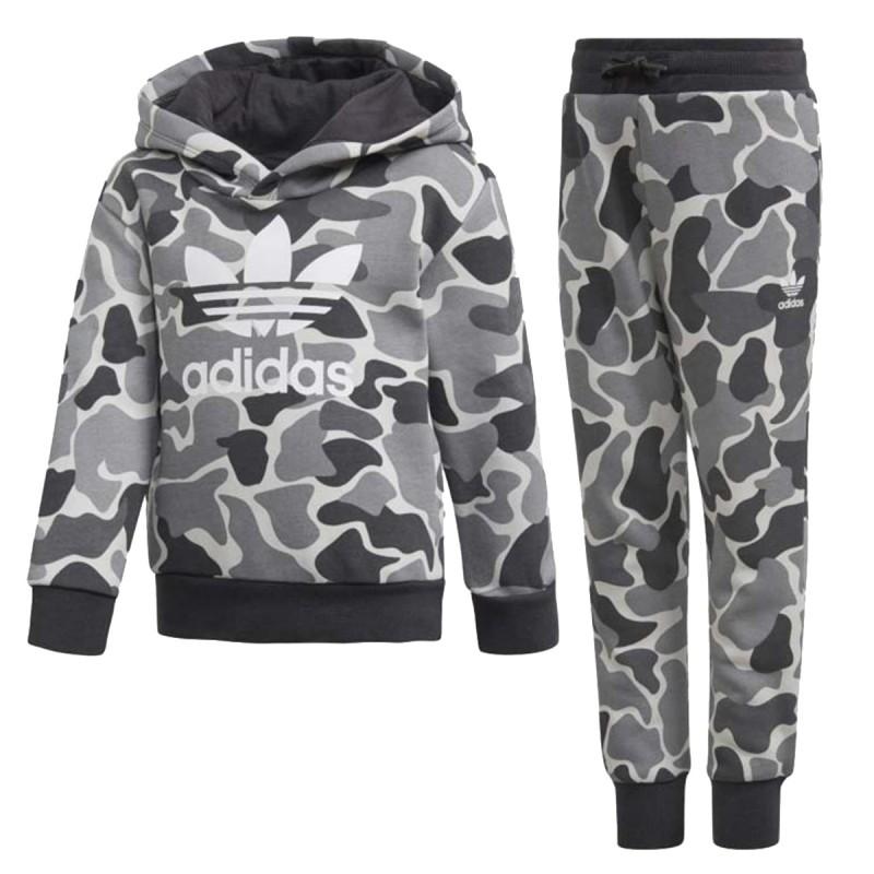 Ensemble sweatpantalon gris garçon Adidas pas cher | Espace des Marques