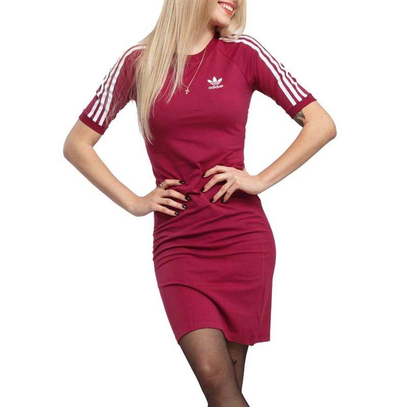 Robe rose femme Adidas 3 Stripes pas cher | Espace des Marques