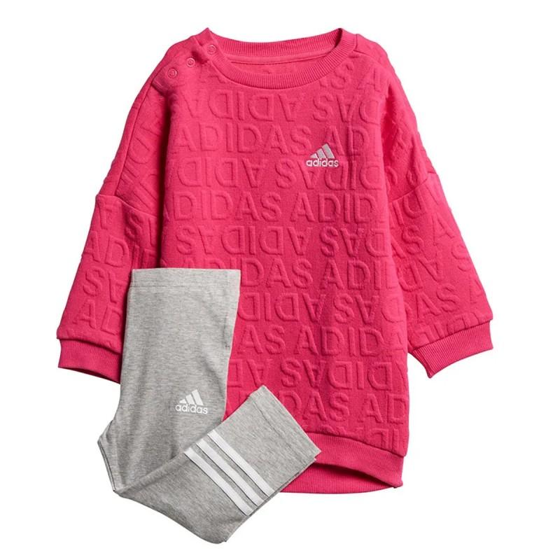 Ensemble rose bébé Adidas Sweat Dress pas cher | Espace des Marques