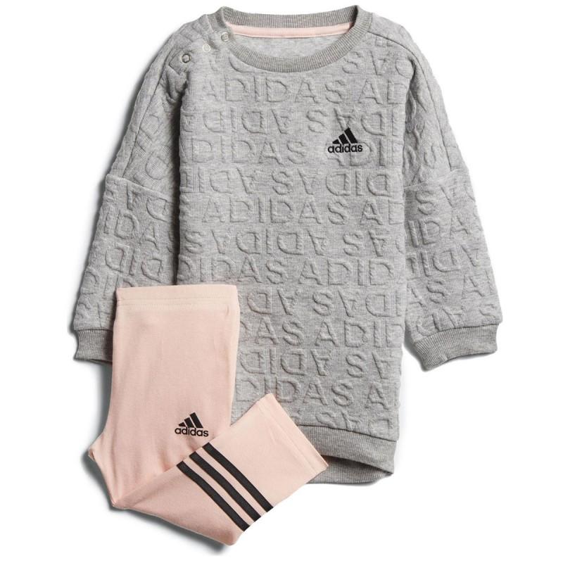Ensemble gris bébé Adidas Sweat Dress pas cher | Espace des Marques