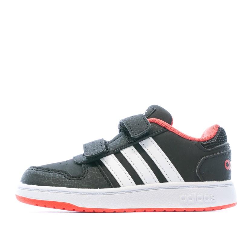 Chaussures noires bébé Adidas Hoops 2.0 pas cher | Espace des Marques