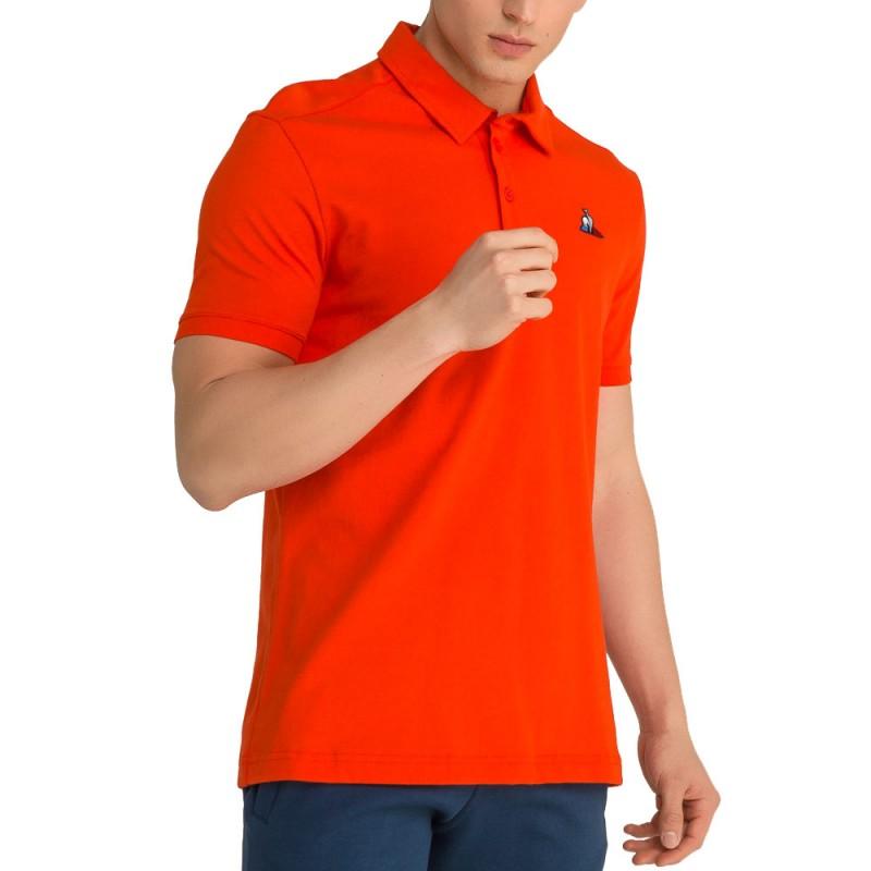 ESS N°2 Homme Polo orange Le Coq Sportif