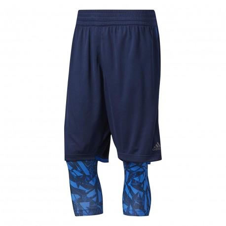 Achat Shrot 2 en 1 marine homme Adidas Basketball | Espace des Marques