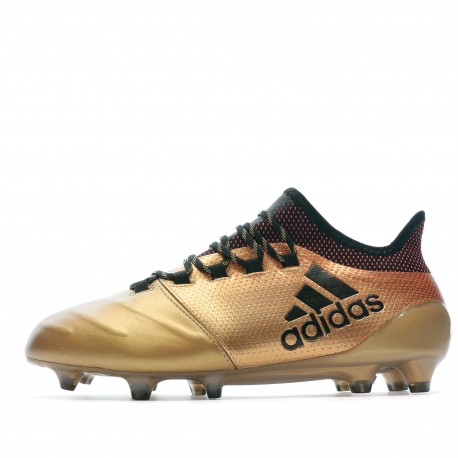 X 17.1 FG Leather Chaussures de foot doré homme Adidas
