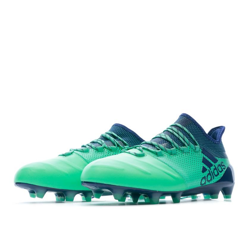 Adidas X 17.1 FG Chaussures de foot vert pas cher | Espace des Marques