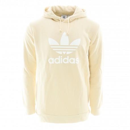 Sweat à capuche Beige Homme Adidas Trefoil