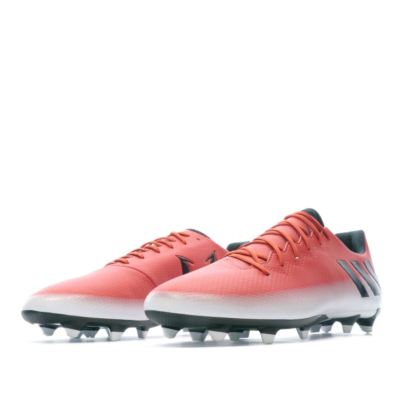 Messi 16.3 FG Chaussures de foot rouge homme Adidas