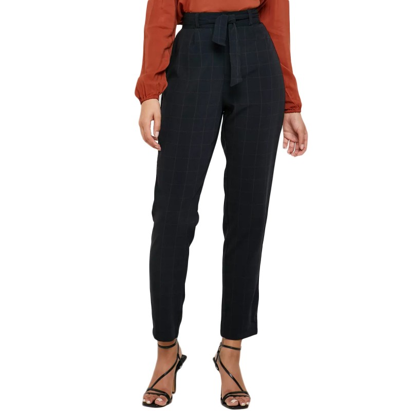 Pantalon Noir Carreaux Femme de chez JDY pas cher | Espace des Marques