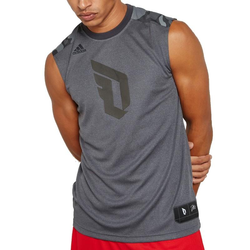 Débardeur Basketball Gris Homme Adidas pas cher | Espace des Marques
