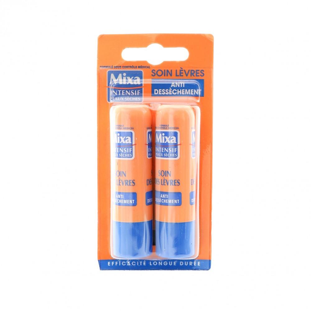 Baumes à lèvres anti-déssèchement Mixa x2 pas cher