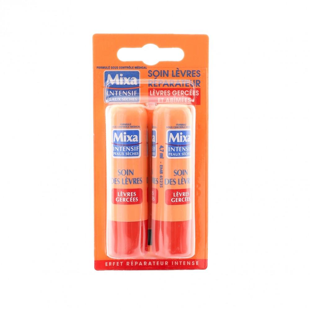 baumes à lèvres réparateur lèvres gercées Mixa x2 pas cher