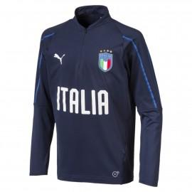 Maillot Training ITALIA Football Bleu Junior Puma pas cher