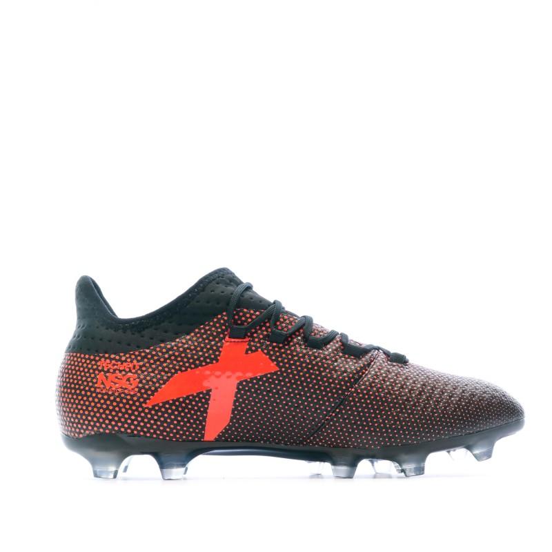X 17.2 FG Chaussures de foot noir/rouge homme Adidas pas cher
