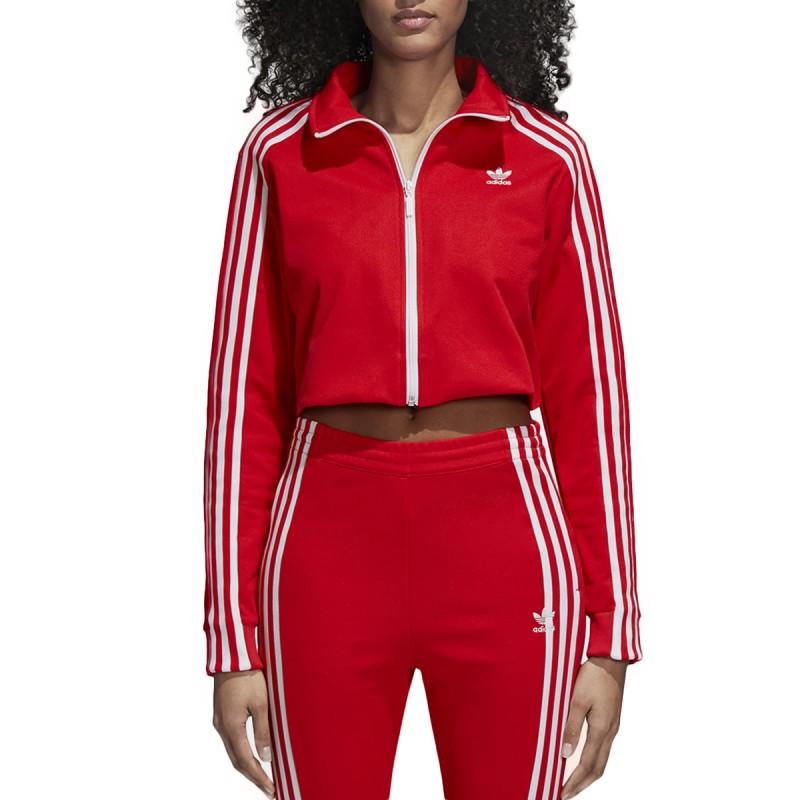Veste survêtement Rouge Adidas TRACK TOP pas cher | Espace des Marques